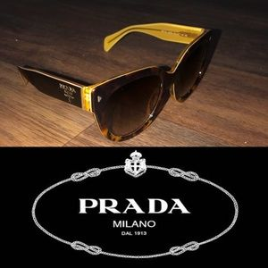 LIKE NEW! PRADA Tortoise Sunglasses